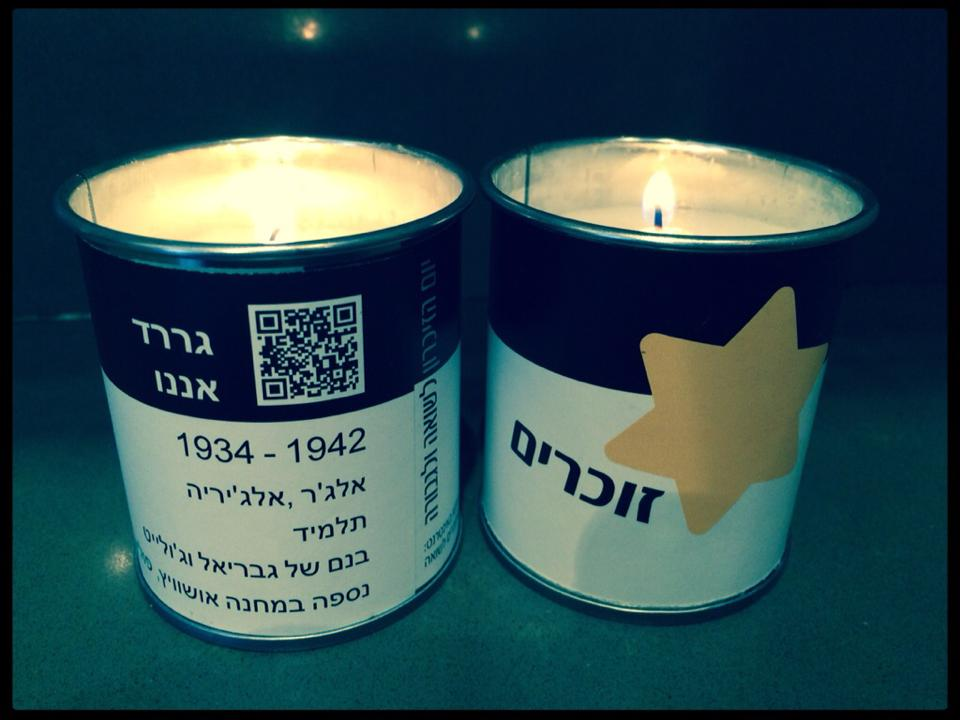 israeli yhshoah candles